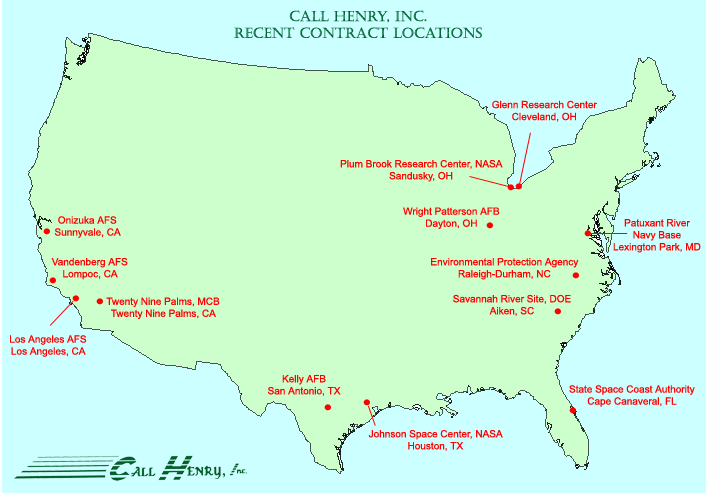 Present Clients - Air force bases in the us map